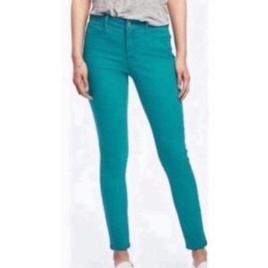 J. Crew Toothpick Turquoise Ankle Skinny Jeans 29